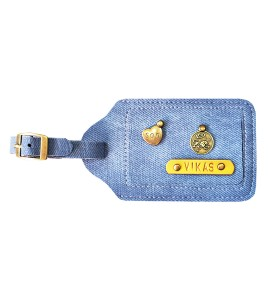 Buy Denim Light Blue Luggage Tag Online at ILoveFashion