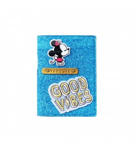 Buy Glitter Blue Passport cover (Peppy) Online at ILoveFashion
