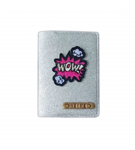 Buy Glitter Silver Passport cover (Peppy) Online at ILoveFashion