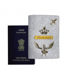 Buy Glitter Silver Passport Cover (Vintage) Online at ILoveFashion