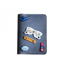 Buy Grey Passport cover (Peppy) Online at ILoveFashion
