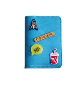 Buy Light Blue Passport cover (Peppy) Online at ILoveFashion
