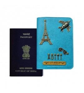 Buy Light Blue Passport Cover (Vintage) Online at ILoveFashion