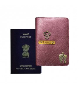 Buy Metallic Burgundy Passport Cover (Vintage) Online at ILoveFashion