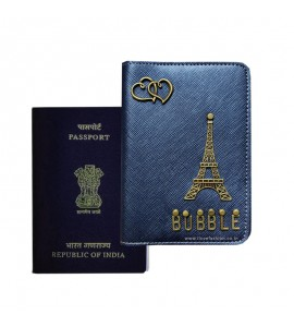 Buy Metallic Navy Blue Passport Cover (Vintage) Online at ILoveFashion