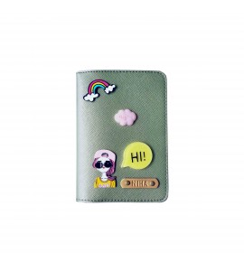 Buy Metallic Olive Passport cover (Peppy) Online at ILoveFashion