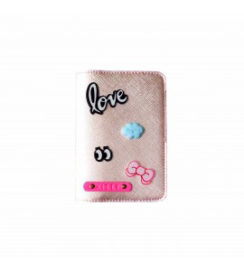 Buy Metallic Rose Gold Passport cover (Peppy) Online at ILoveFashion