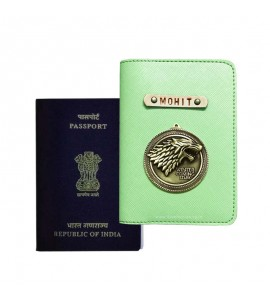 Buy Saffiano Parrot Green Passport Cover (Vintage) Online at ILoveFashion