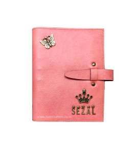Buy Peach Pink Personalised Diary Online at ILoveFashion