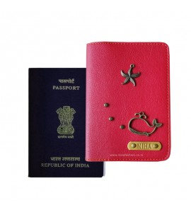 Buy Red Passport Cover (Vintage) Online at ILoveFashion