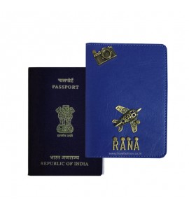 Buy Royal Blue Passport Cover (Vintage) Online at ILoveFashion