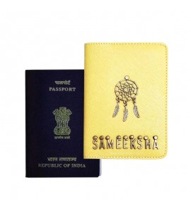 Buy Saffiano Yellow Passport Cover (Vintage) Online at ILoveFashion