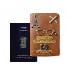 Buy Tan Brown Passport Cover (Vintage) Online at ILoveFashion