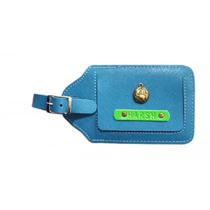 Teal Blue Luggage Tag