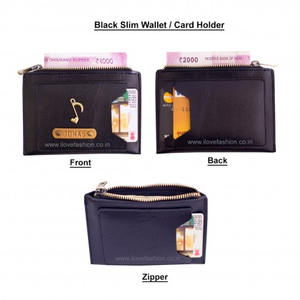 Black Unisex Slim wallet / Card Holder