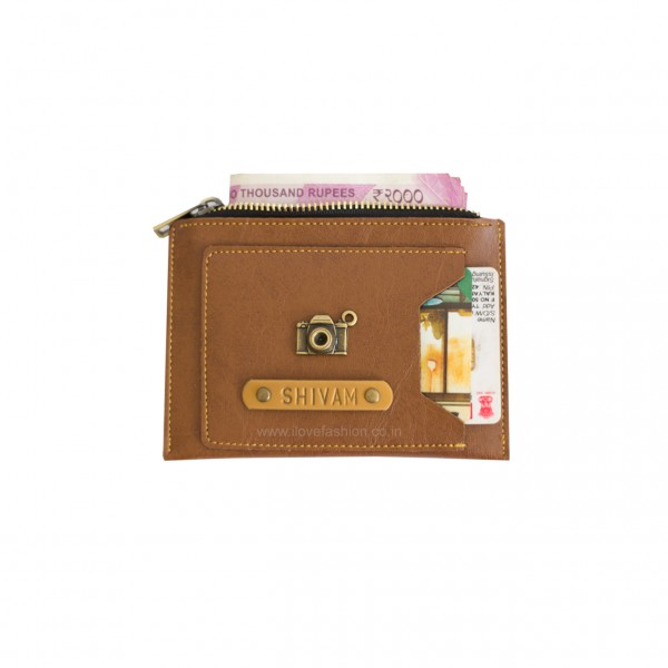 Tan Brown Unisex Slim wallet / Card Holder